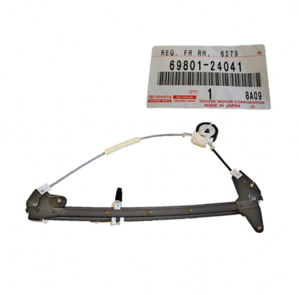 Genuine Lexus SC300 SC400 Toyota Soarer Window Regulator, Front RH 69801-24041, 6980124041